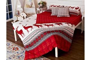 """Комплект постельного белья из фланели """"Нордик"""" 1,5 спальное"""